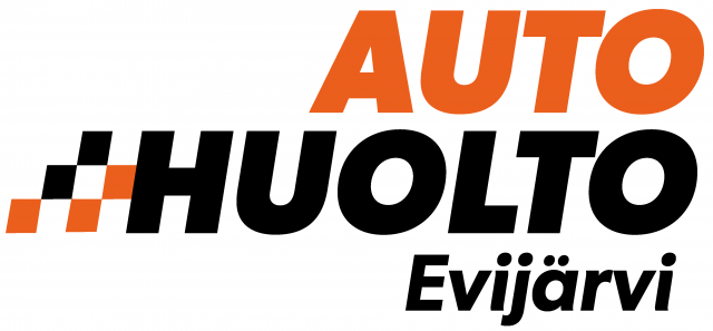 EVIJARVEN AUTOHUOLTO LOGO oranssi musta